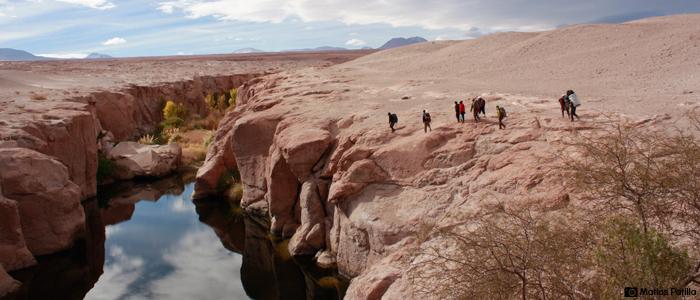 Spot para escalada tradicional Toconao Chile