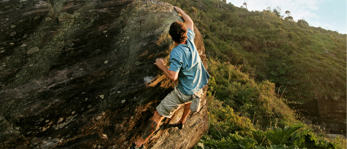 Header spot de boulder en Pilolcura Valdivia
