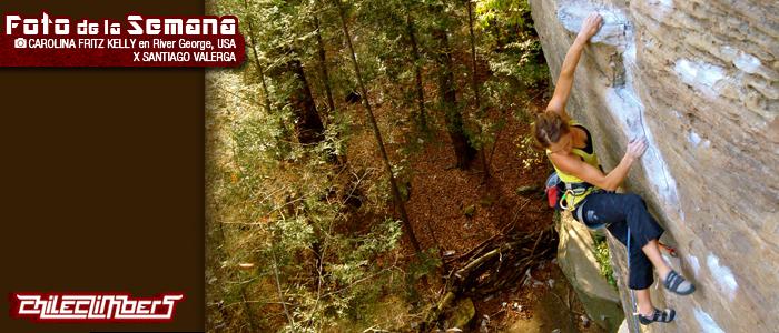 foto de a semana - Carolina Fritz Kelly escalando en River George- por Santiago Valerga