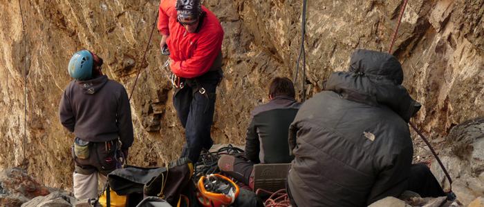 longitud de la cuerda es la principal causa de accidentes en la escalada