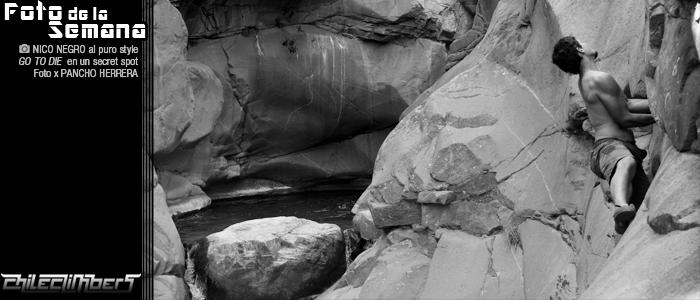 foto de a semana - Pancho Herrera- Nico Negro go to die en un secret spot de escalada