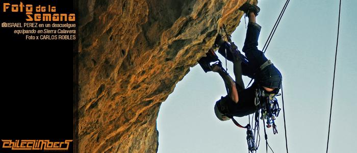 oto de a semana - Carlos Robles- Israel Perez equipando en Sierra Calavera