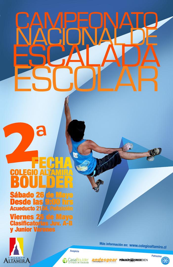 2do afiche Escalada Escolar