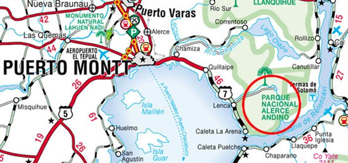 Mapa Cómo llegar sector Metri Puerto Montt