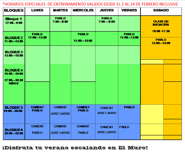 Chileclimbers noticias de escalada en chile for Horario la roca