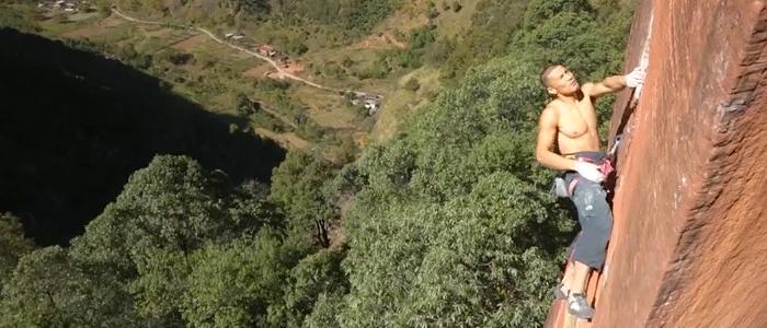 Header Climbing trad in china