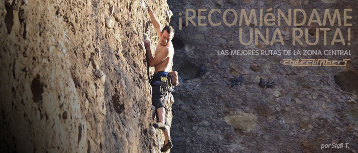 Las mejores rutas de escalada zona central de chile