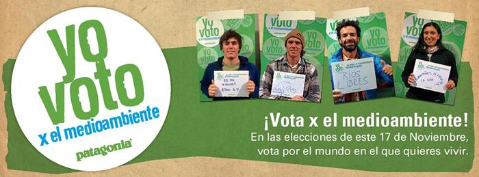 patagonia camapana yo voto por el medioambiente