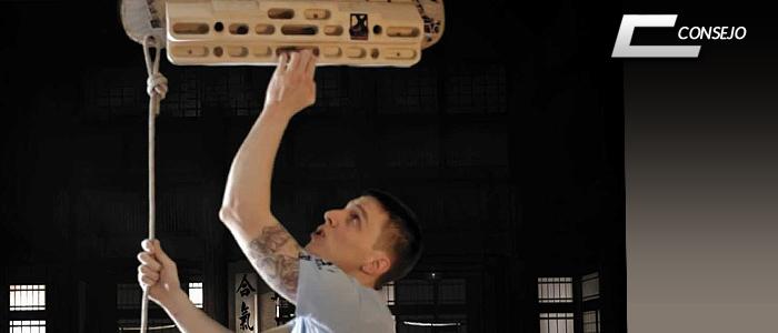 entrenamiento escalada boulder hangboard campusboard anillas system