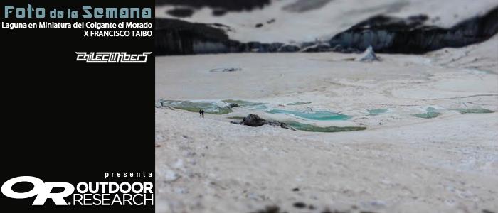 Laguna en miniatura del glaciar colgante el morado por francisco taido