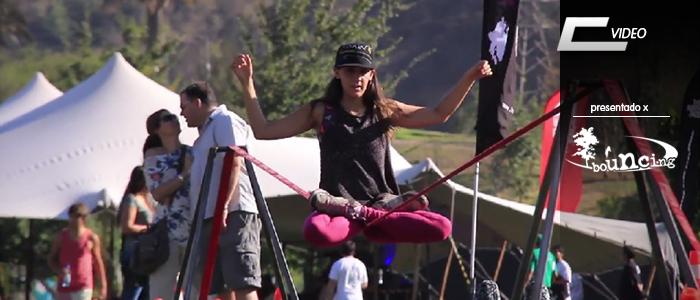 Bouncing slackline en el parque bicentenario