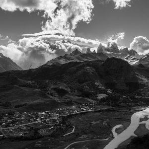 2. Pueblo a los pies del cerro Chalten